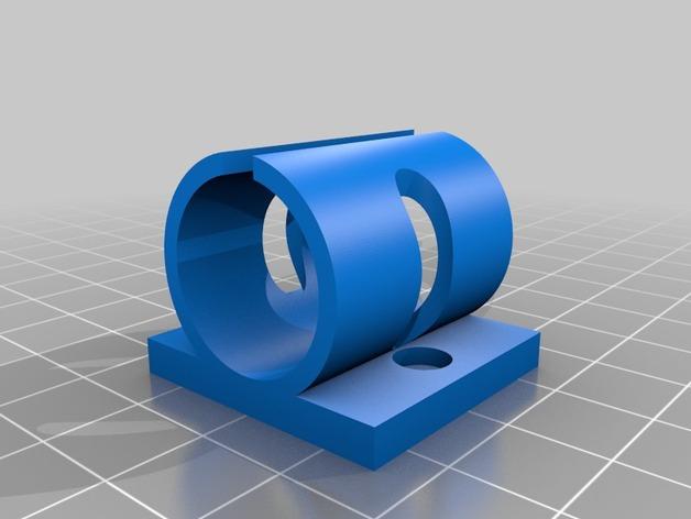 Prusa i3打印机Y轴轴承支架 3D打印模型渲染图