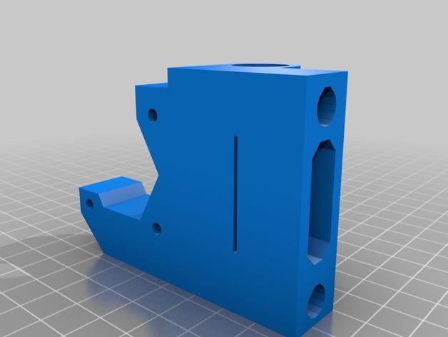 Prusa I3打印机X轴防震器 3D打印模型渲染图