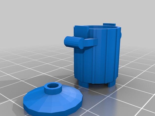 垃圾桶 3D打印模型渲染图