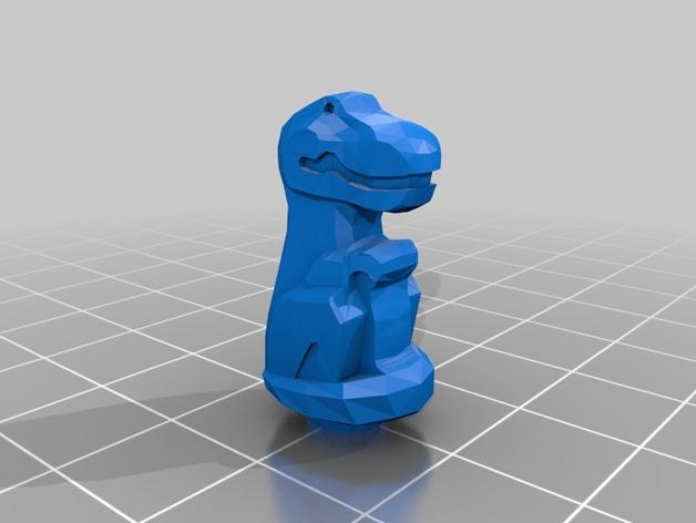 雷克斯暴龙 3D打印模型渲染图
