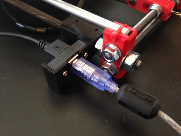prusa i3打印机的USB支架 3D打印模型渲染图