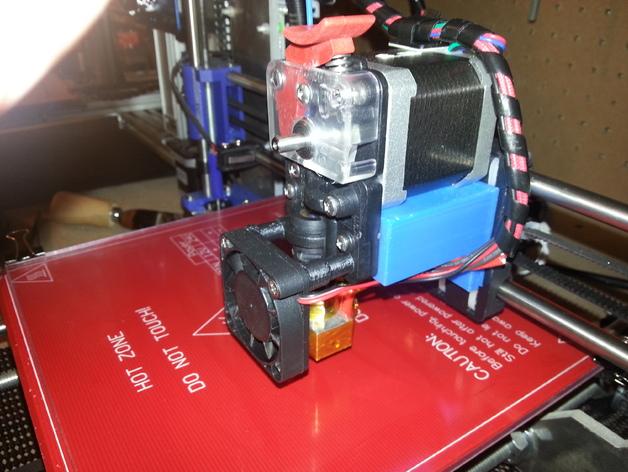 Prusa i3打印机的挤出机支架 3D打印模型渲染图