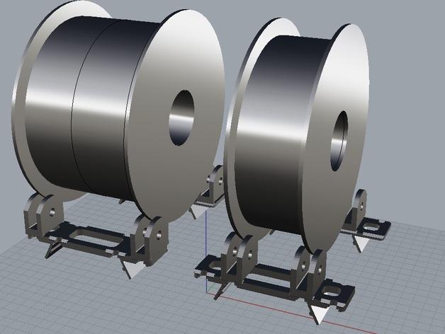 BCN3D+打印机的线轴支架 3D打印模型渲染图
