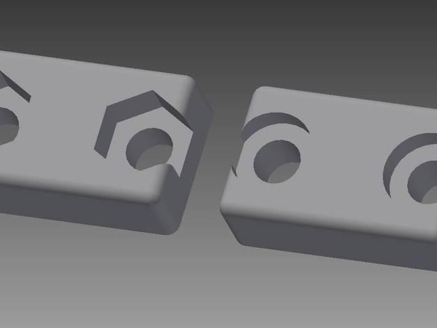 夹子 3D打印模型渲染图