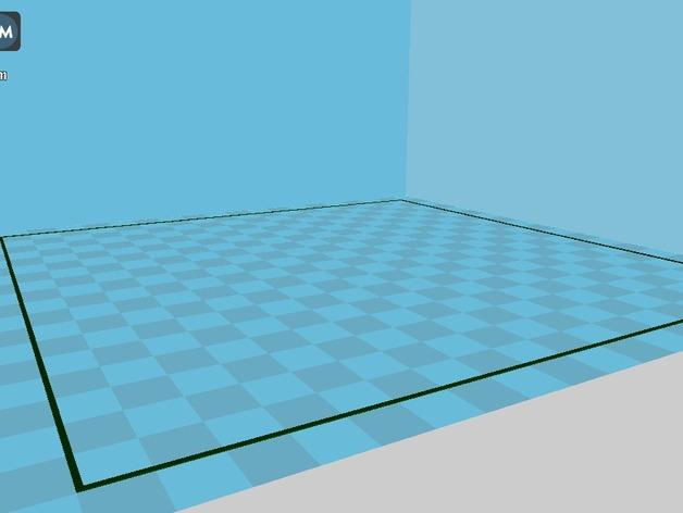 水平测试版面 3D打印模型渲染图