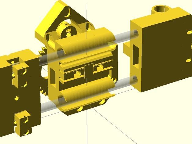 X轴垂直挤出器