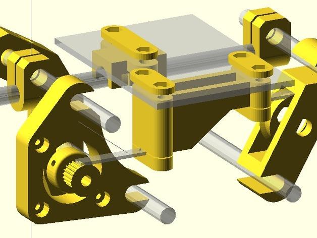 Radus Prusa i2适配器 3D打印模型渲染图