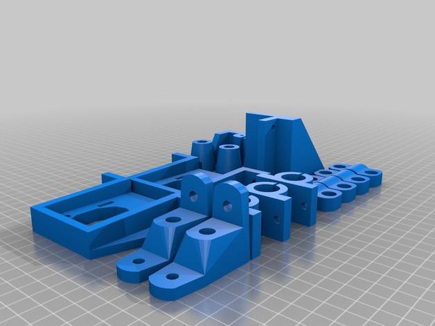 3D打印机适配器 3D打印模型渲染图