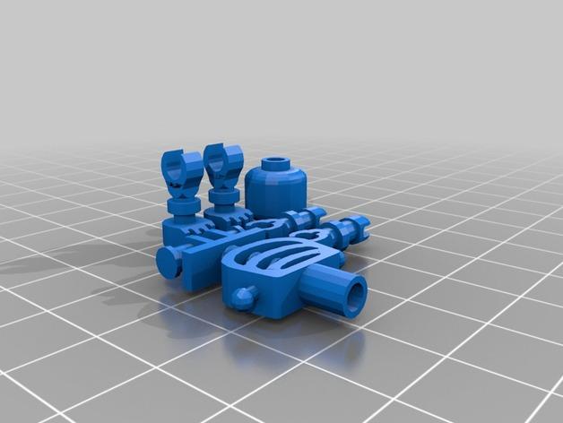 乐高摆件 3D打印模型渲染图