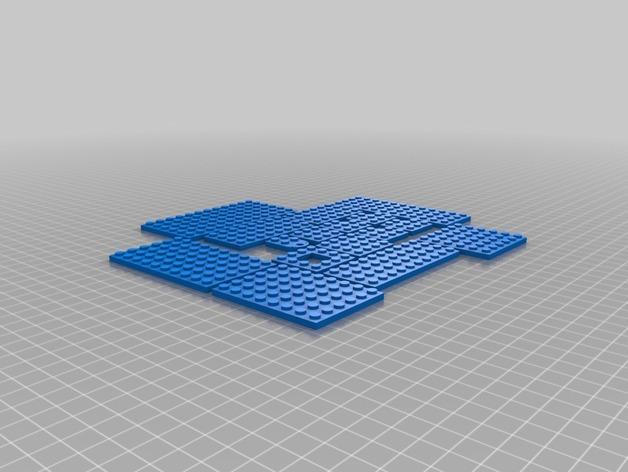 乐高盘子 3D打印模型渲染图