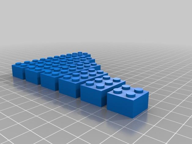 乐高积木 3D打印模型渲染图