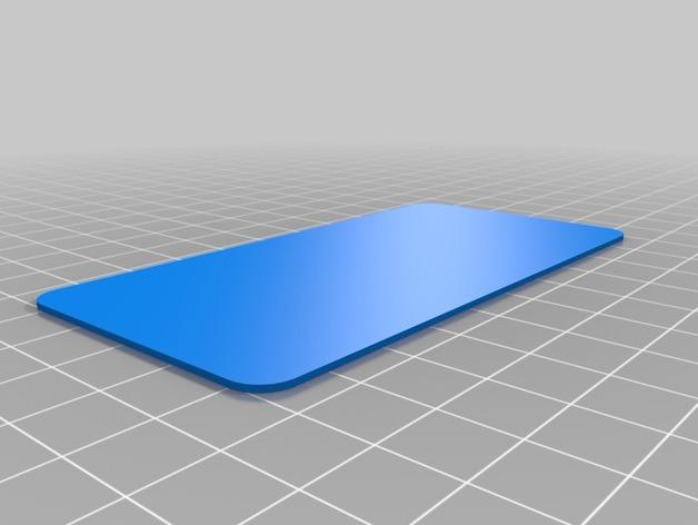 圆角参数板 3D打印模型渲染图