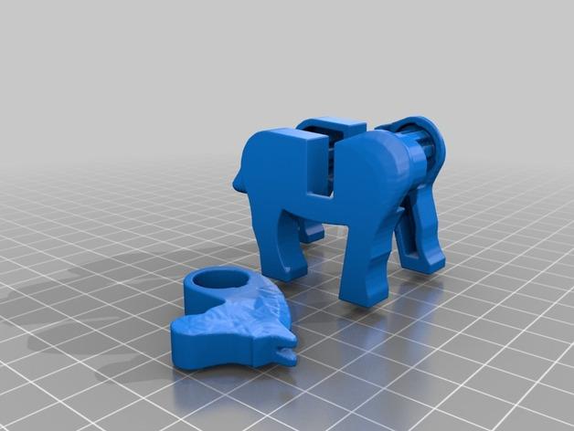 乐高马 3D打印模型渲染图