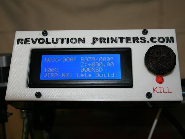 LCD保护壳 3D打印模型渲染图
