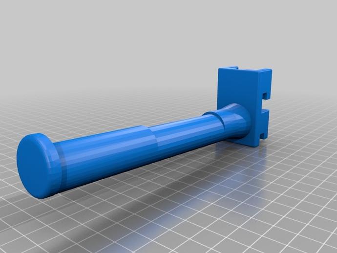 加长版 线轴架 3D打印模型渲染图