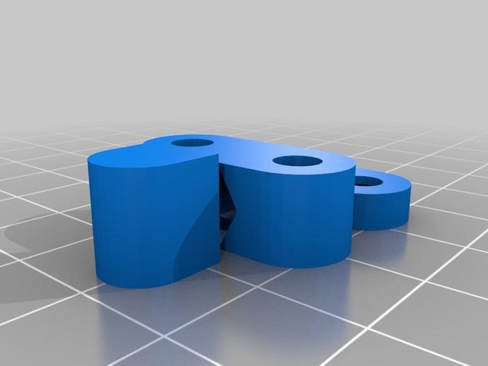 X轴拉紧器 3D打印模型渲染图