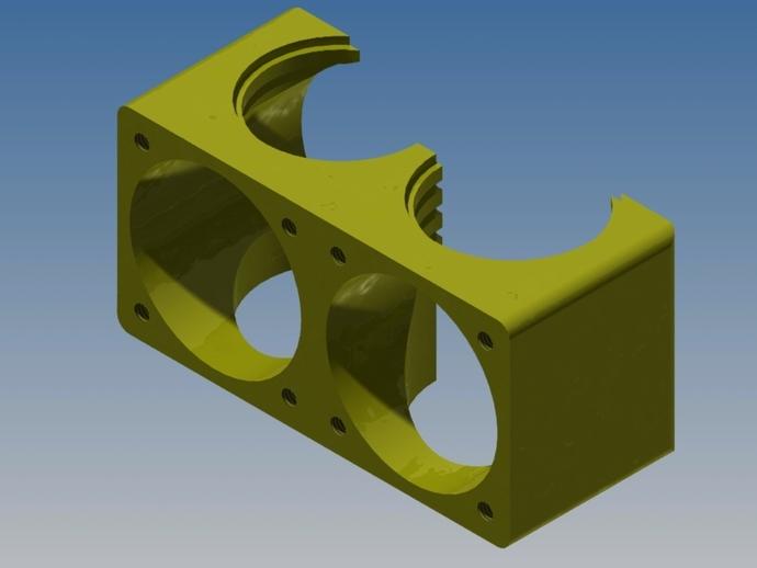 风机管 3D打印模型渲染图