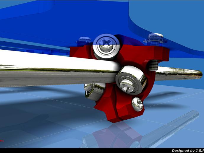 滚轴适配器 3D打印模型渲染图