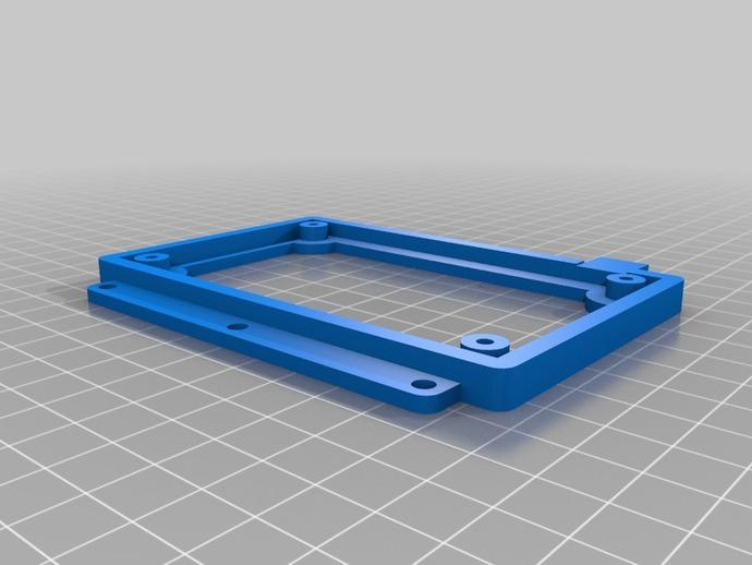 加热板底座 3D打印模型渲染图
