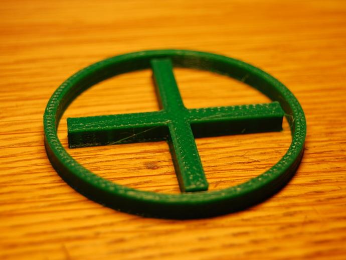 十字和圆圈