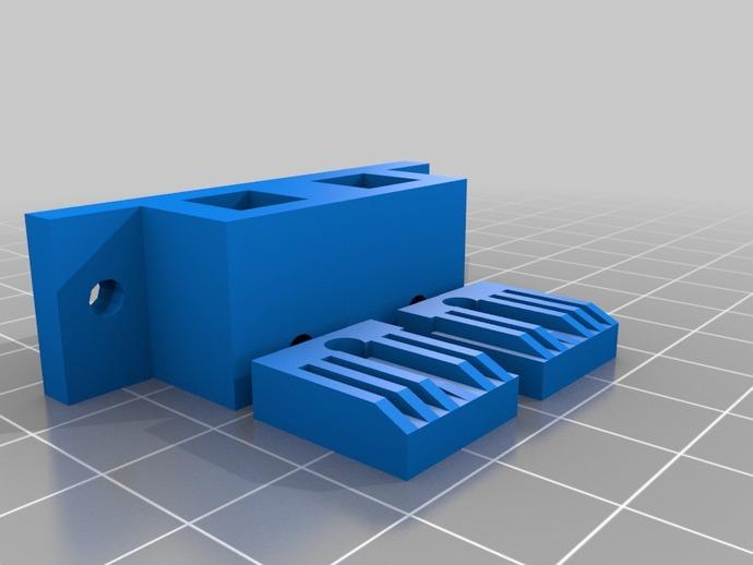 Y轴皮带螺母 3D打印模型渲染图