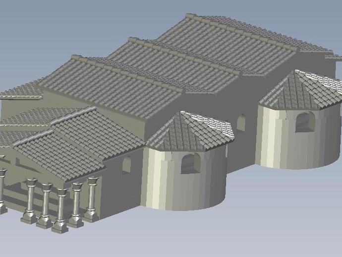 罗马浴场 3D打印模型渲染图