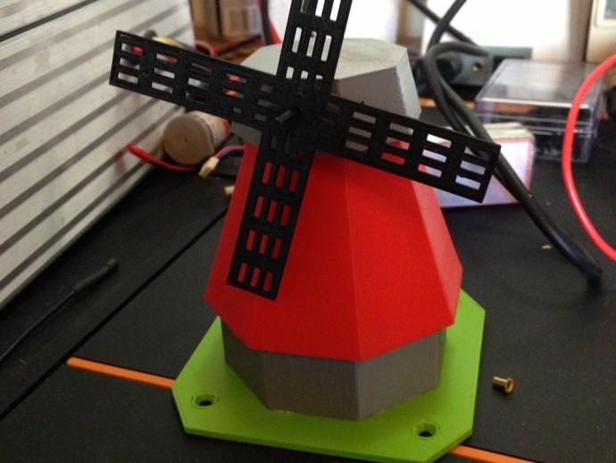 风车模型 3D打印模型渲染图