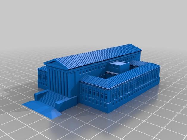 法院建筑 模型