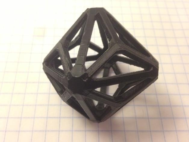 多面体线框几何模型
