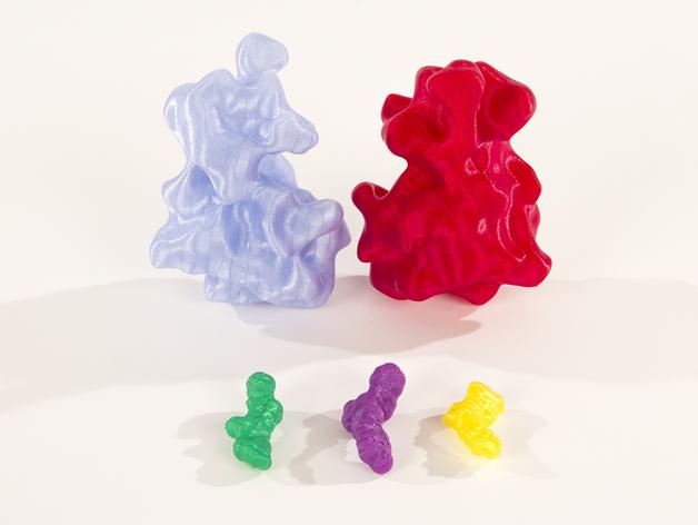 分子模型 3D打印模型渲染图