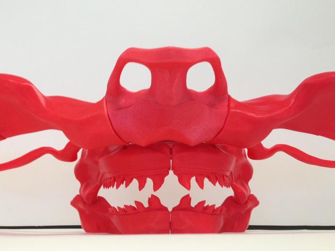 巴哈马锤头鲨头骨 3D打印模型渲染图