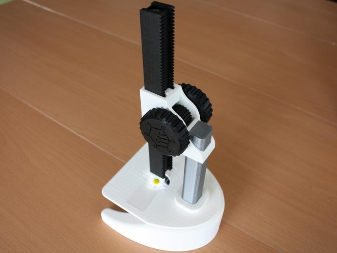 显微镜 3D打印模型渲染图
