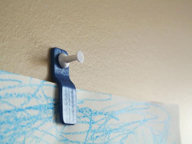 壁挂式回形针模型