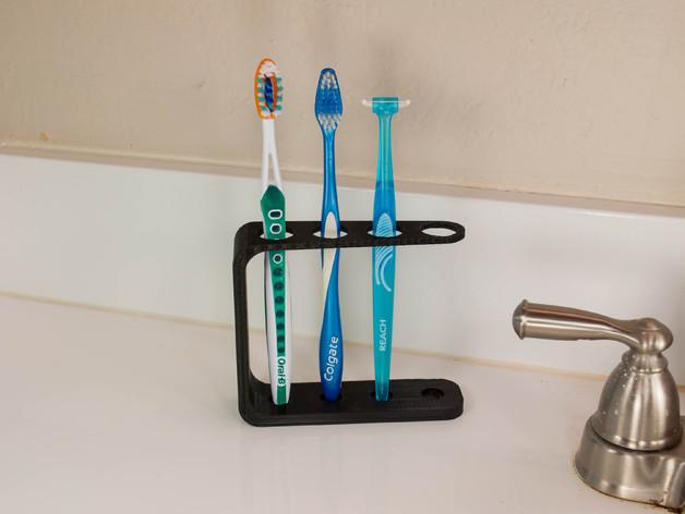 四孔牙刷架模型 3D打印模型渲染图