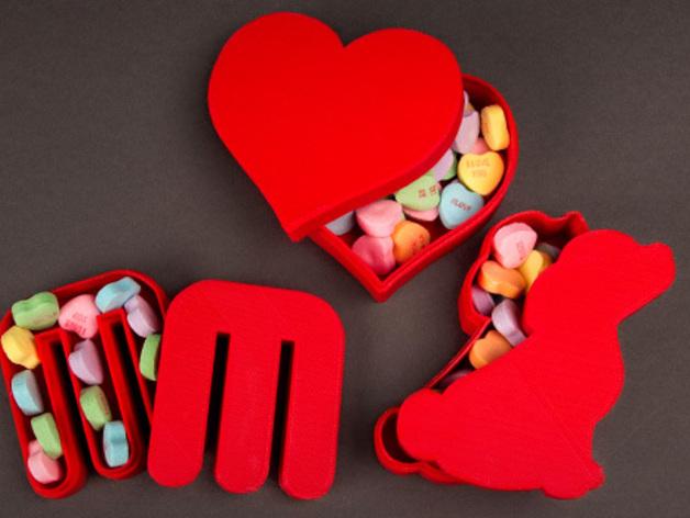个性化糖果盒模型 3D打印模型渲染图