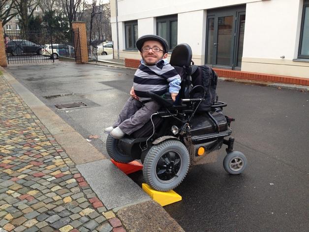3D打印轮椅坡道模型