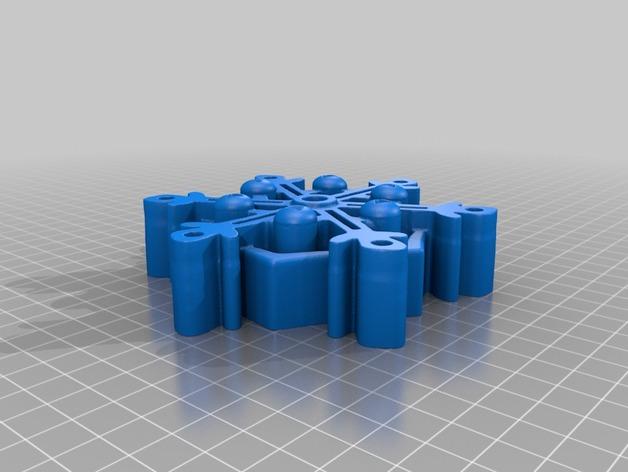 雪花形SD卡盒模型