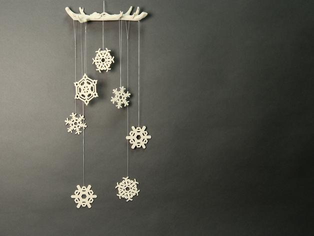 雪花形装饰物模型