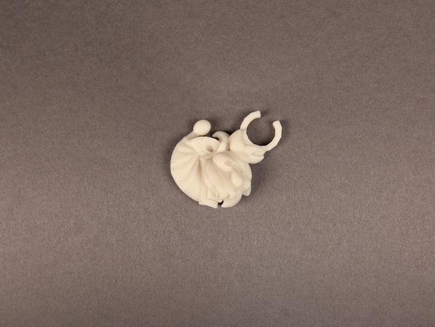 小精灵开瓶器模型 3D打印模型渲染图