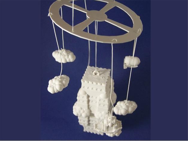 空中城堡装饰物模型 3D打印模型渲染图