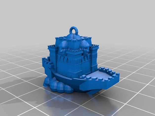 空中城堡装饰物模型