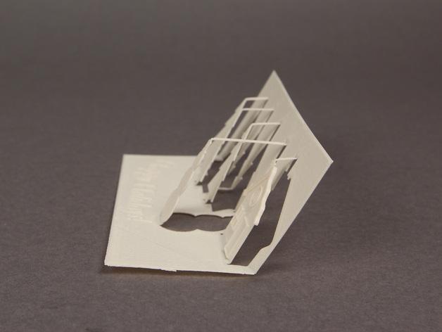 3D打印贺卡模型