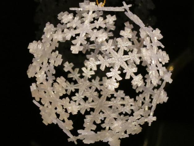 雪花形十二面体装饰物