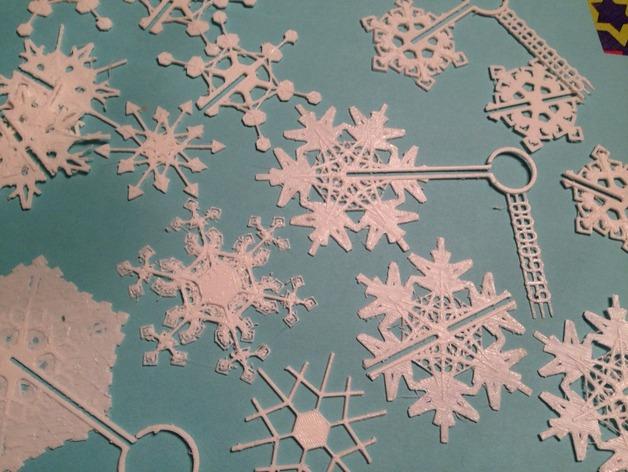 定制化雪花装饰物