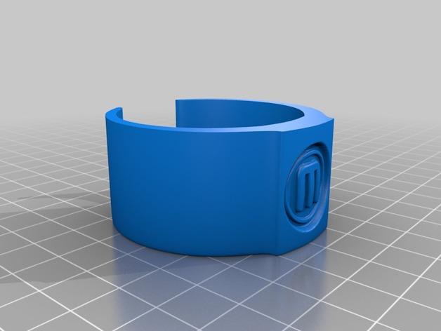 包装纸固定环模型