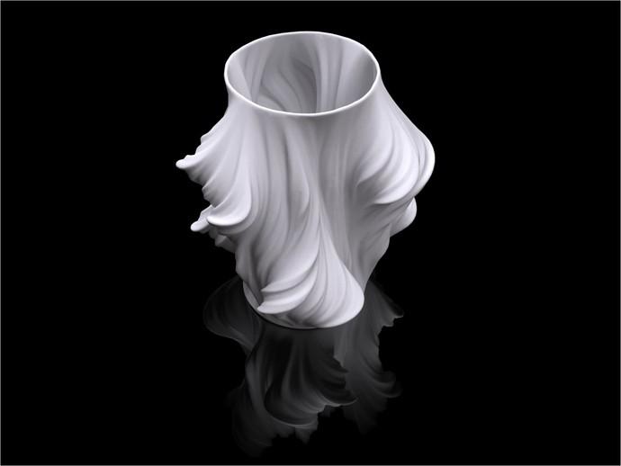 Julia花瓶模型#011 3D打印模型渲染图