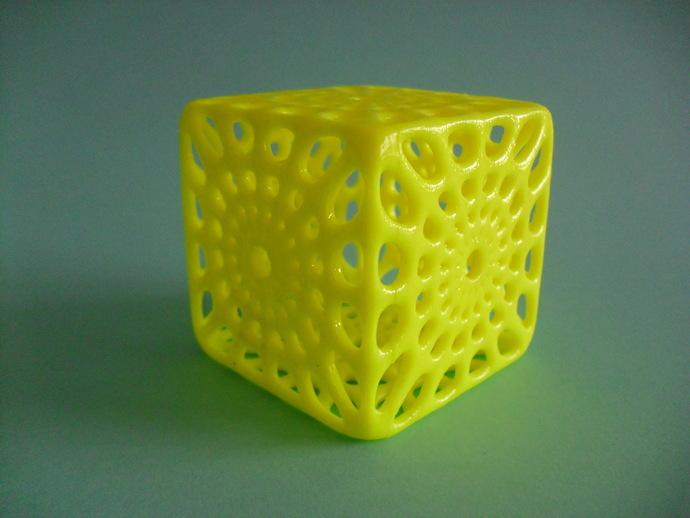 镂空立方体模型 3D打印模型渲染图