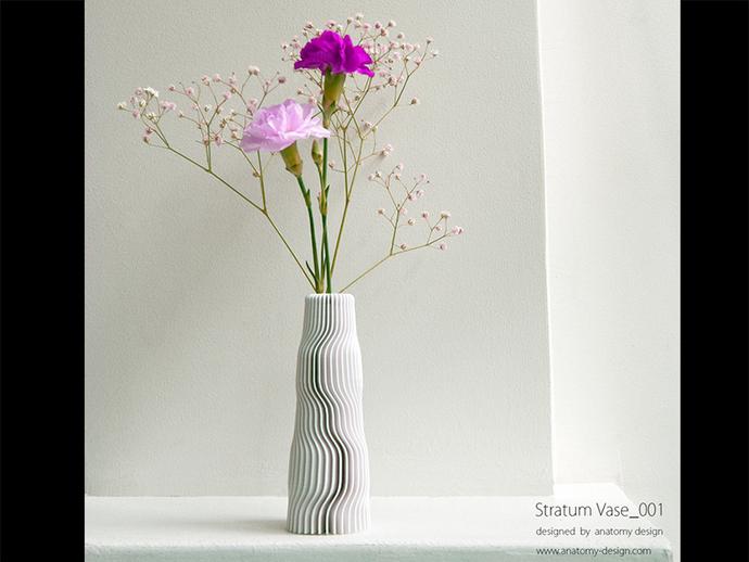 迷你波浪形花瓶模型001