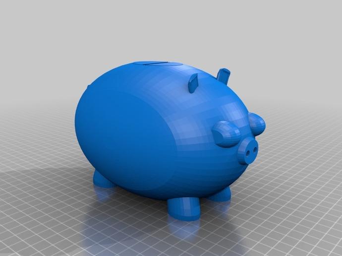 小猪形存钱罐模型