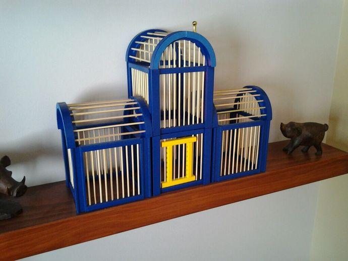 竹签鸟笼模型 3D打印模型渲染图